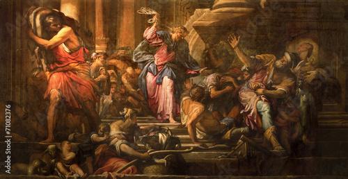 Venice - Paint of Jesus Cleanses the Temple - San Pantalon