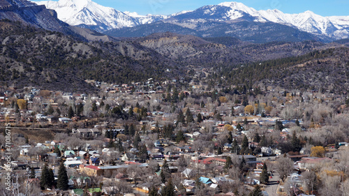 Fotografie, Obraz  Beautiful scene of Durango, Colorado from the top