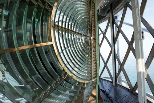 Valokuva Huge Fresnel lens in a lighthouse