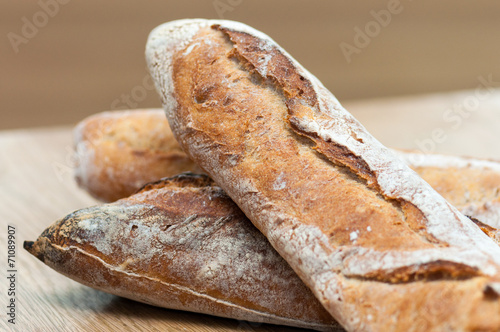 Deurstickers Brood Bread-French baguettes