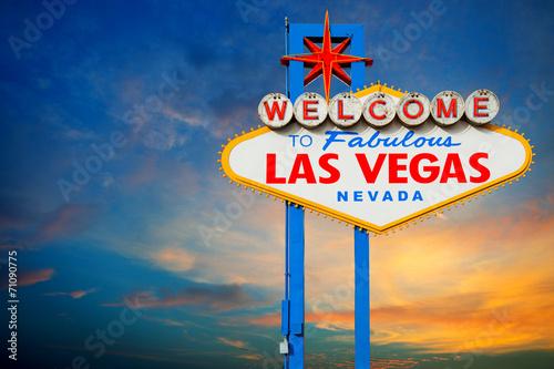 Foto op Aluminium Las Vegas Welcome to Las Vegas Sign