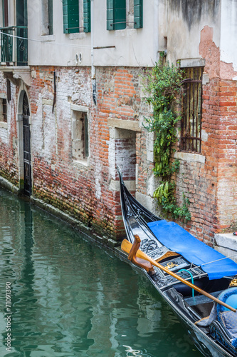 Canvas Prints Venice Gondola Service on the canal in Venice, Italy