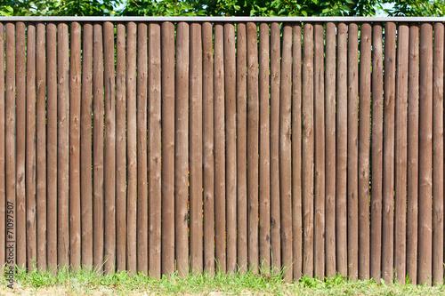 Fotografie, Obraz  Solid wood picket fence