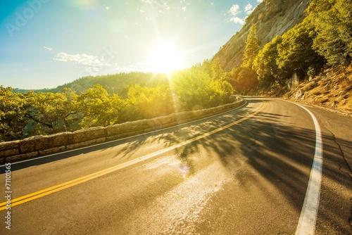 Fotografie, Obraz  Sunny Yosemite Road