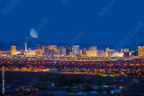Poster  Las Vegas Strip and Moon