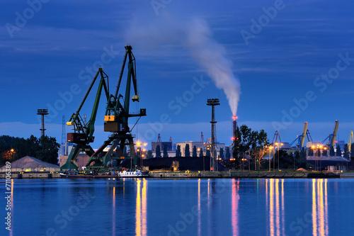 Fotobehang - Morze,  port nocą