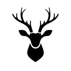Fototapeta Deer Head Icon Vector Logo
