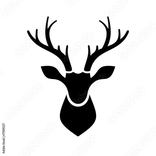 Fotografie, Obraz  Deer Head Icon Vector Logo