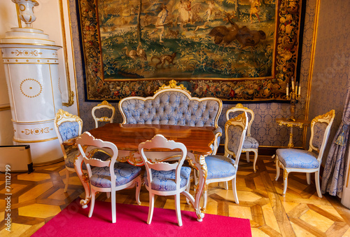 Foto  Interior of palace in Salzburg Austria