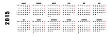 2015 Calendar Isolated On White Background