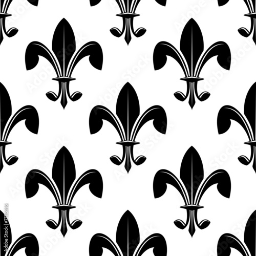 black and white seamles fleur de lys pattern buy this stock vector
