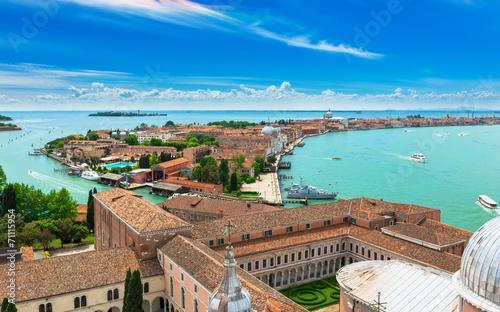 Poster Venise San Giorgio Maggiore and Giudecca islands in Venice, Italy