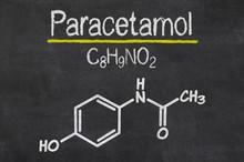 Schiefertafel Mit Der Chemischen Formel Von Paracetamol