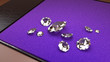 canvas print picture - Big Diamonds on a Purple Tray