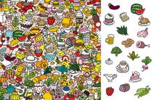 Find Food, Visual Game. Soluti...