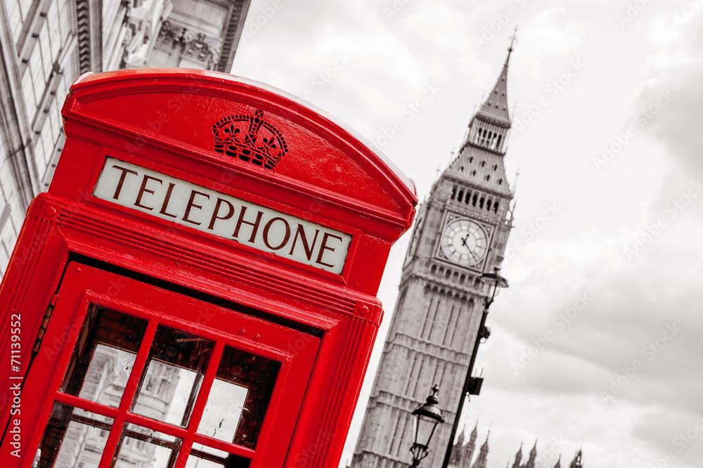 Budka telefoniczna. Londyn, Wielka Brytania