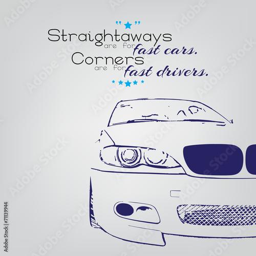 Fotografie, Obraz  Fast drivers