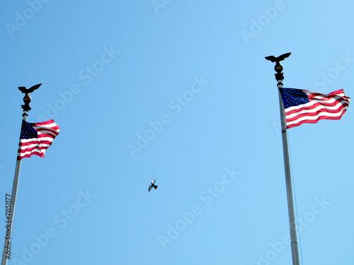 Photo Washington Union Station flags 2010