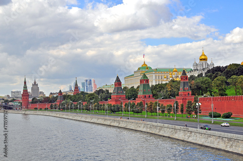 Panorama of Moscow Canvas Print