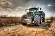 canvas print picture - traktor hdr