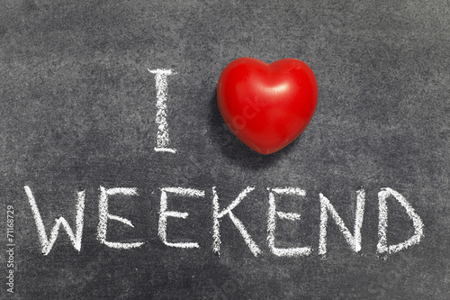 Fototapeta love weekend obraz