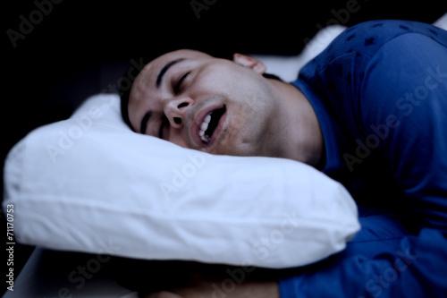 Photo  Portrait of a sleeping man