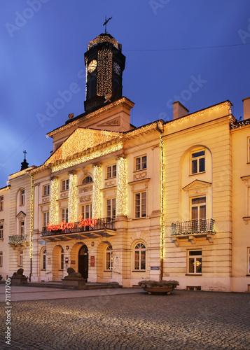 Plakat Ratusz w Płocku. Polska