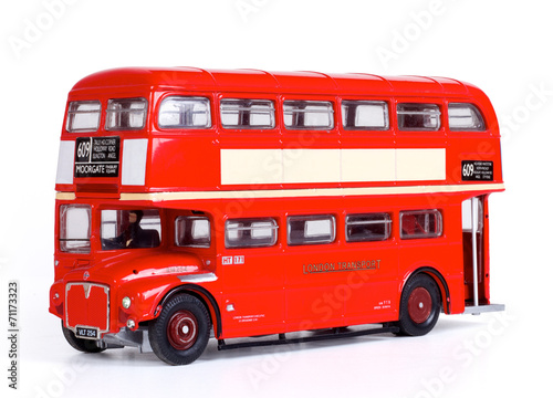 Foto op Canvas Londen rode bus London Bus Isolated with Clipping Path