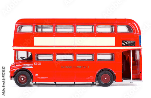 In de dag Londen rode bus London Bus Isolated with Clipping Path