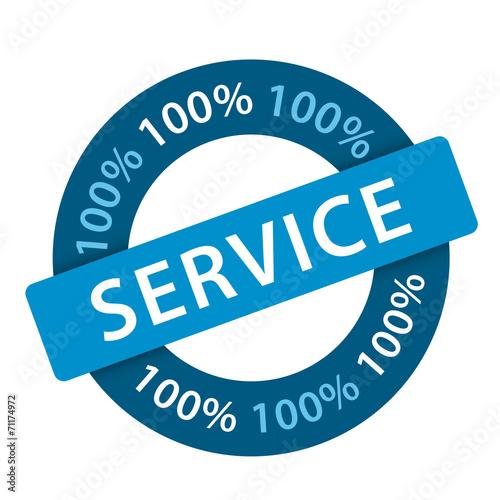 Tampon 100% SERVICE (satisfaction clients qualité)
