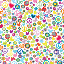 Flower Power Background Seamle...