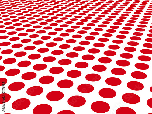 Red dots on white Poster