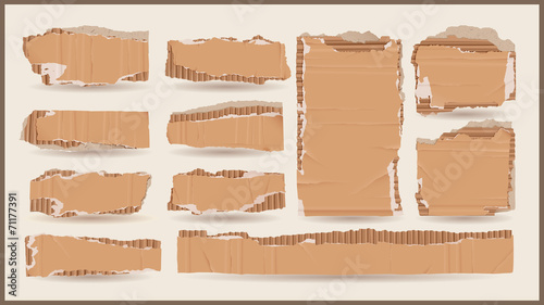 vector cardboard objects Canvas