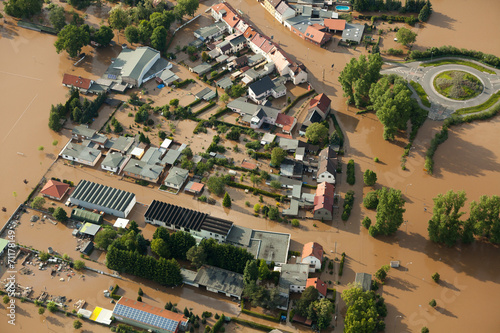Cuadros en Lienzo Hochwasser/Überschwemmung