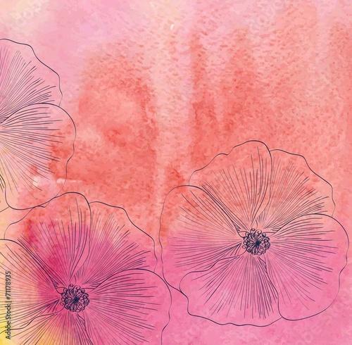 Staande foto Roze watercolor
