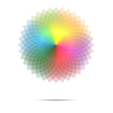 Vector Of Spectrum Spirograph Abstract Background
