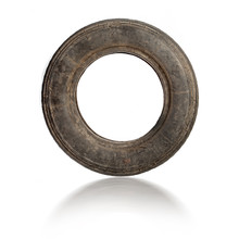 Small Old Dirty Tire Isolated