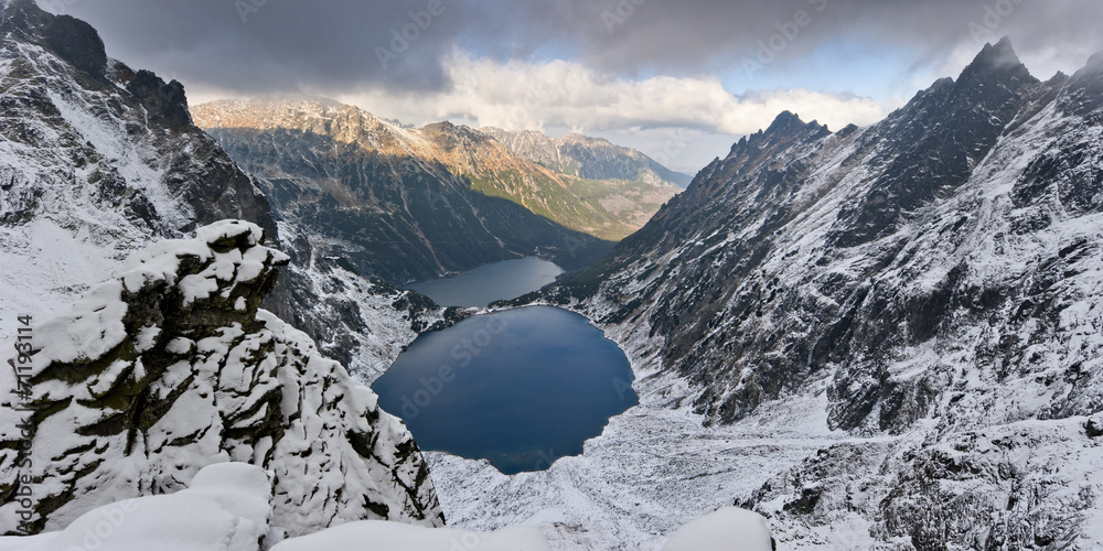 Fototapety, obrazy: Tatra National Park, Black Pond and Marine Eye