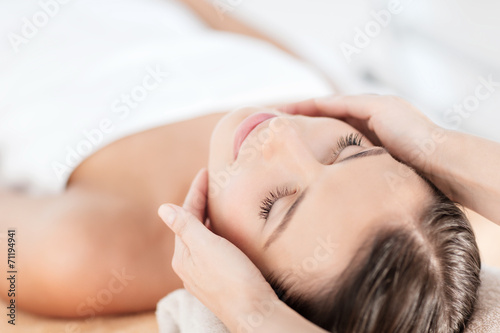 Fotobehang Spa beautiful woman in spa salon