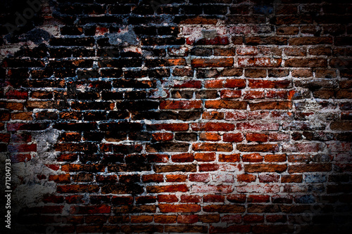 Poster Brick wall Old brick wall texture.