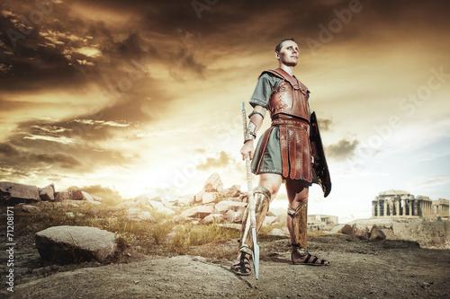 Foto  Antike griechische Krieger im Kampf zu kämpfen