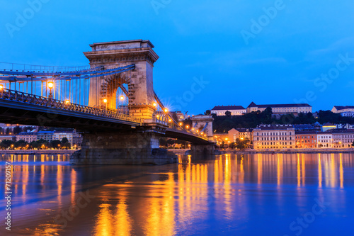 The Chain Bridge, Budapest Hungary Poster