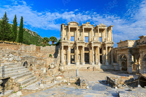 Tuinposter Turkije Celsus library, Ephesus Turkey