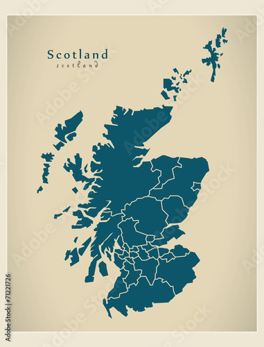 Map Of Uk To Buy.Modern Map Scotland With Regions Uk Buy This Stock Vector And