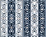 Seamless ornamental pattern with pearls