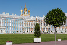 Palace-court Of Catherine Palace In Tsarskoe Selo, Russia