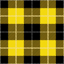 Yellow Tartan Plaid Design