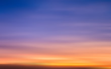 Blur Of Sunset Sky Illustration