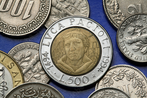 Fotografia  Coins of Italy