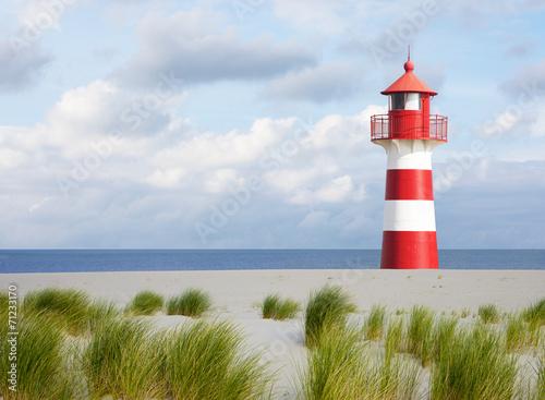 Obraz na plátně Leuchtturm an der Küste